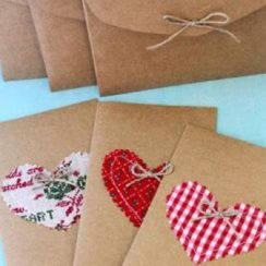 sobres para cartas de amor de papel craft