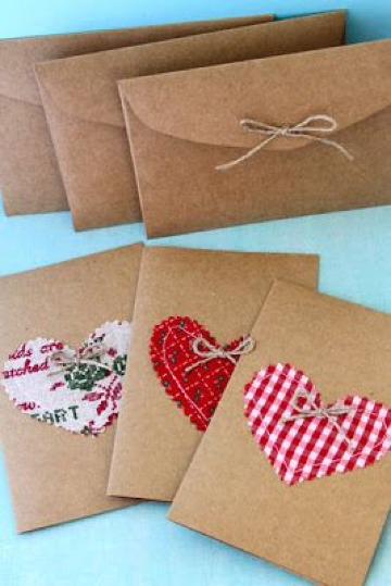 sobres para cartas de amor de papel craft