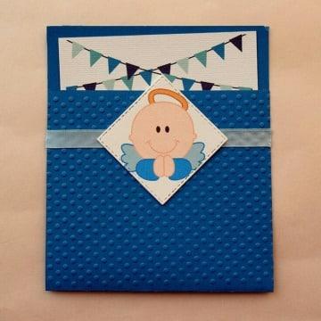 tarjetas de bautizo para niño sencillas