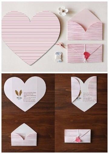 tarjetas en forma de corazon paso a paso