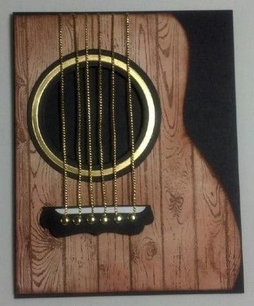 tarjetas en forma de guitarra acustica