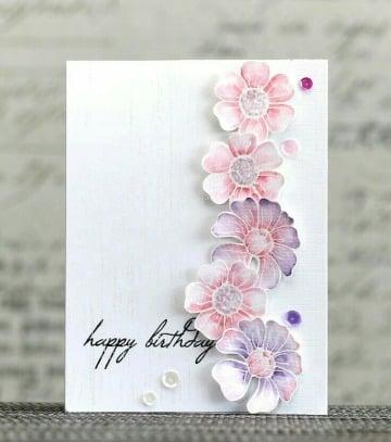 como hacer tarjetas elegantes de cumpleaños