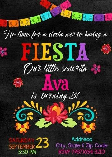 diseños de invitaciones para fiesta mexicana