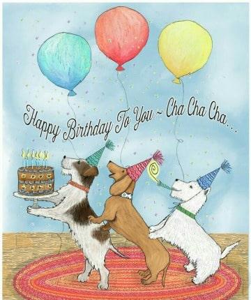 divertidas tarjetas de cumpleaños con perros