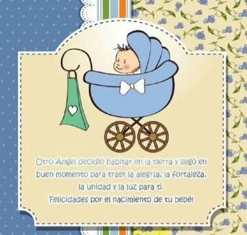 felicitaciones por nacimiento de hijo para enviar