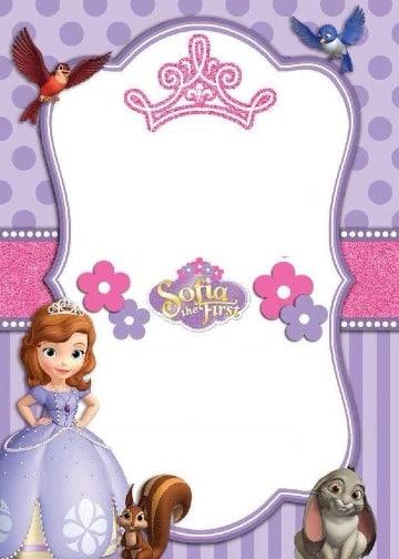 fondos para tarjetas de invitacion princesa sofia