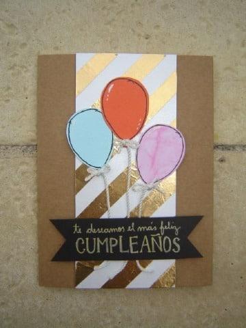 fotos de tarjetas de cumpleaños a mano