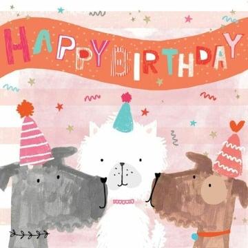 imagenes de tarjetas de cumpleaños con perros