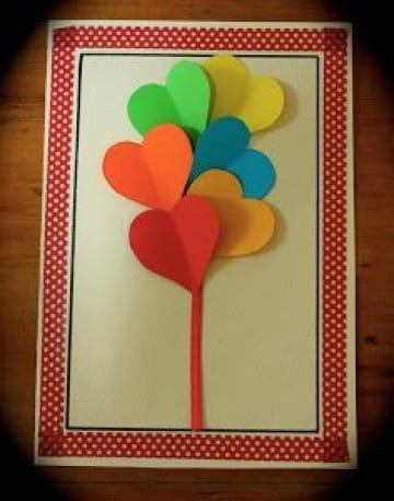 imagenes de tarjetas en cartulina de colores