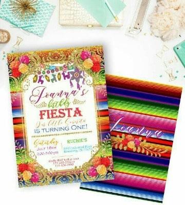 invitaciones para fiesta mexicana de niña