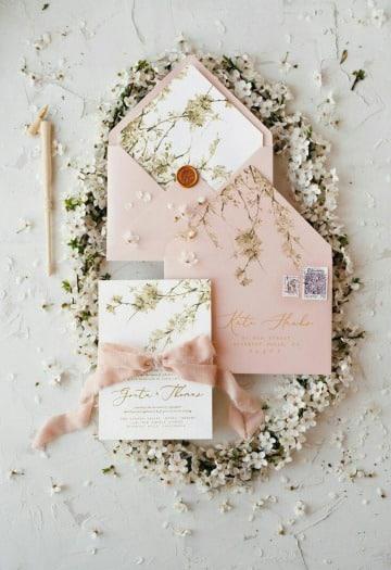 sobres para invitaciones de boda elegantes