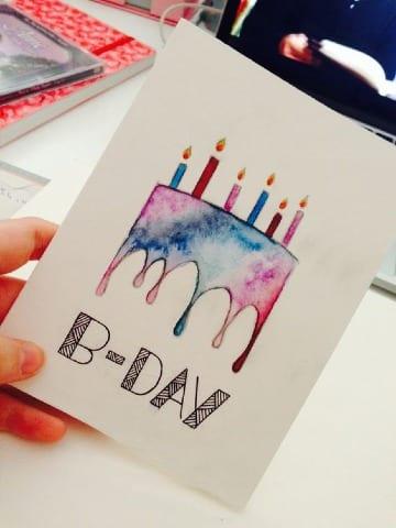 tarjetas de cumpleaños a mano paso a paso