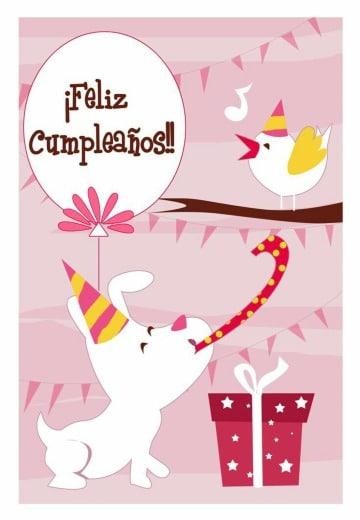 tarjetas de cumpleaños con perros para imprimir