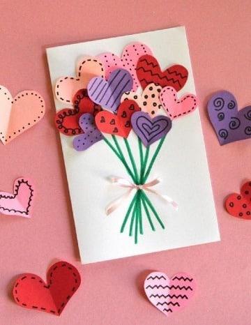 tarjetas en cartulina de colores para mama