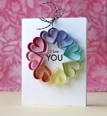 tarjetas en cartulina de colores para novio