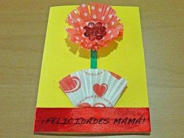 tarjetas para mamá hechas a mano sencillas