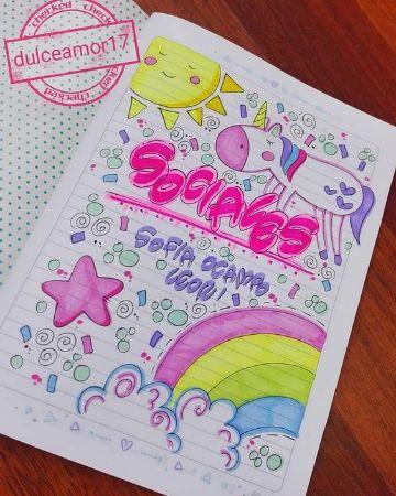 caratulas de ciencias sociales de niña