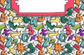 coloridas portadas para cuadernos de matematicas