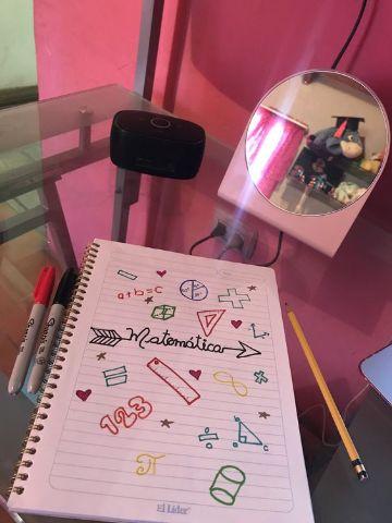 como dibujar portadas para cuadernos de matematicas