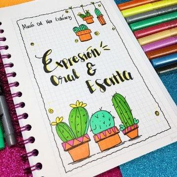 creativas caratulas para cuadernos de secundaria