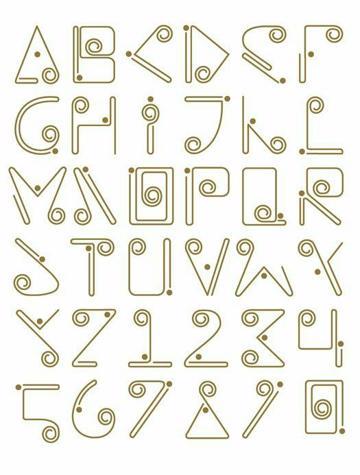 diseños de letras para carteles caligrafia moderna
