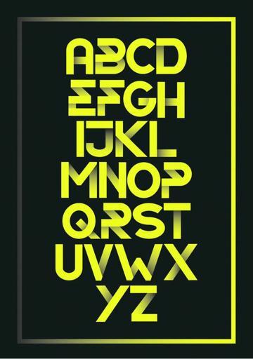 diseños de letras para carteles mayusculas