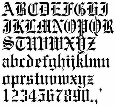 diseños de letras para carteles vintage