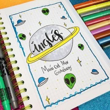 portadas de ingles para cuadernos faciles