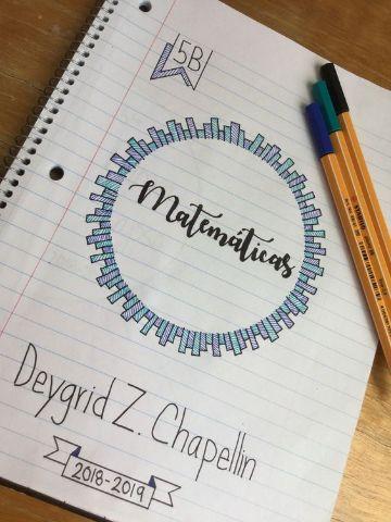 portadas para cuadernos de matematicas para niños