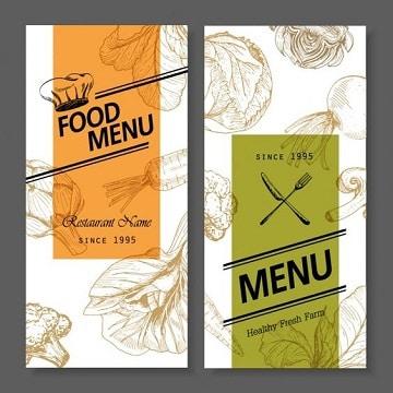 diseño de fondos para menus de restaurantes