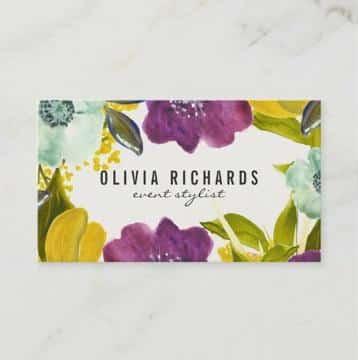 diseño de tarjetas de presentacion de flores