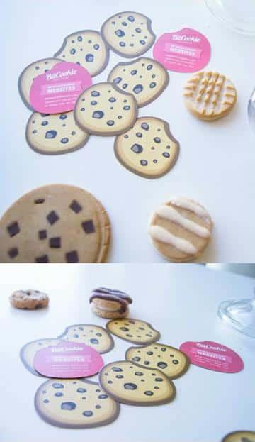 diseño de tarjetas de presentacion de galletas