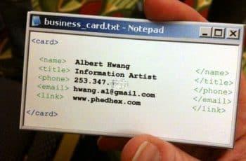diseño de tarjetas de presentacion de informatica