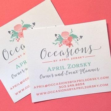 diseños de tarjetas de organizadores de eventos