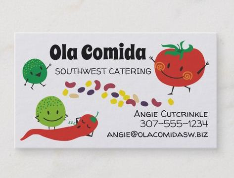 diseños de tarjetas de presentacion catering