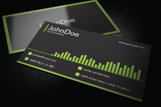 diseños de tarjetas de presentacion de bandas