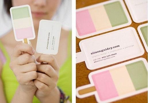 diseños de tarjetas de presentacion de helados