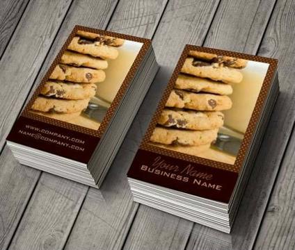 ejemplos de tarjetas de presentacion de galletas