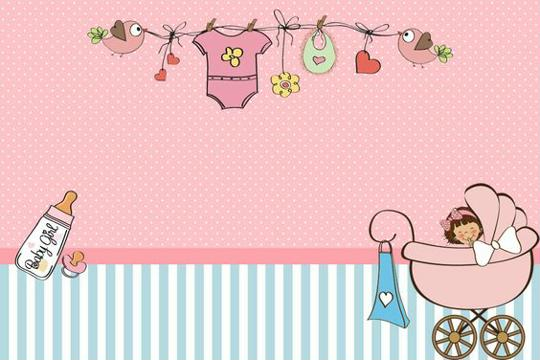etiquetas para baby shower niña imprimir