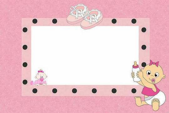 etiquetas para baby shower niña marcos
