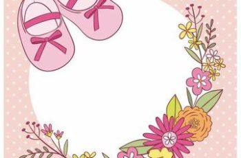 etiquetas para baby shower niña rosa