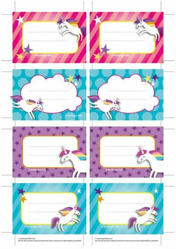 etiquetas para cuadernos de niñas adhesivos