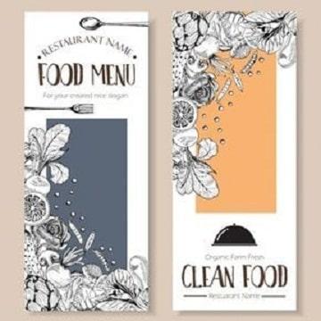 fondos para menus de restaurantes elegantes