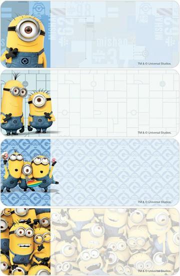 imagenes de etiquetas escolares de minions
