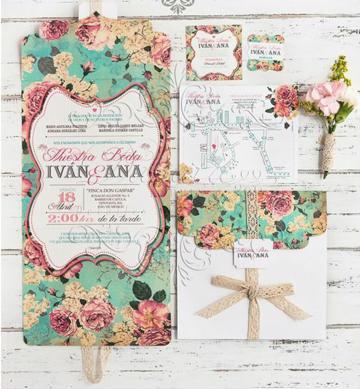 invitaciones de boda en español vintage