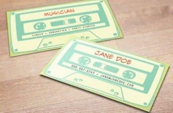 modelos de tarjetas de presentacion de bandas