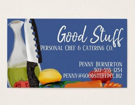 plantillas de tarjetas de presentacion catering