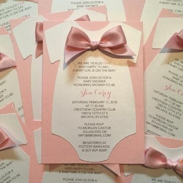 tarjetas de baby shower de niñas