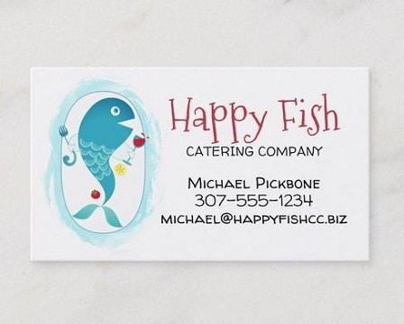 tarjetas de presentacion catering fondo blanco