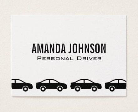 tarjetas de presentacion de autos en general